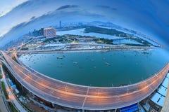 Seascape γεφυρών Xinglin Xiamen, Κίνα Στοκ Φωτογραφία