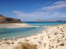 seascape δεξαμενών χώνευσης νησιών της Κρήτης balos Στοκ Εικόνα