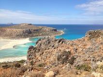seascape δεξαμενών χώνευσης νησιών της Κρήτης balos Στοκ εικόνα με δικαίωμα ελεύθερης χρήσης