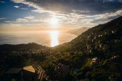 Seascape ηλιοβασιλέματος στην Ιταλία Στοκ εικόνες με δικαίωμα ελεύθερης χρήσης