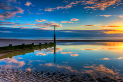Seascape ηλιοβασιλέματος Στοκ εικόνες με δικαίωμα ελεύθερης χρήσης
