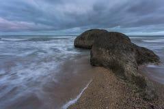 Seascape, θάλασσα πριν από τη θύελλα στοκ εικόνες