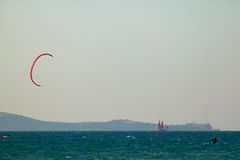 seascape ικτίνων κυματωγή Στοκ φωτογραφία με δικαίωμα ελεύθερης χρήσης