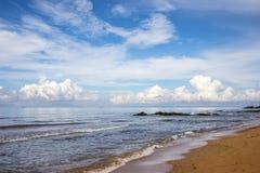 Seascape με το σύννεφο Στοκ φωτογραφίες με δικαίωμα ελεύθερης χρήσης