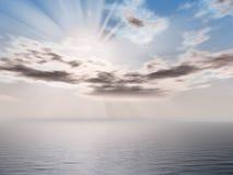 seascape πρωινού διανυσματική απεικόνιση