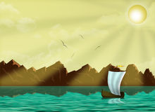 seascape σκάφος Στοκ Φωτογραφία