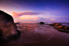 Seascape στην αυγή Στοκ Εικόνες