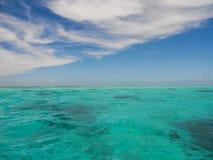 Seascape στην Ταϊτή, γαλλική Πολυνησία Στοκ φωτογραφία με δικαίωμα ελεύθερης χρήσης