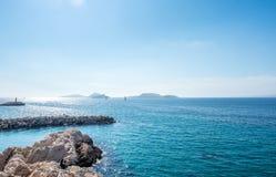 Seascape στη Μασσαλία, Γαλλία Στοκ Φωτογραφία