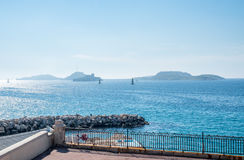 Seascape στη Μασσαλία, Γαλλία Στοκ φωτογραφία με δικαίωμα ελεύθερης χρήσης