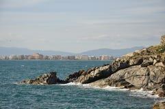 Seascape στη νοτιοανατολική Καταλωνία Στοκ φωτογραφία με δικαίωμα ελεύθερης χρήσης