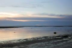 Seascape στους υγρότοπους Gaomei στοκ εικόνα με δικαίωμα ελεύθερης χρήσης