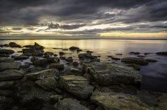 Seascape στο ηλιοβασίλεμα στοκ εικόνες