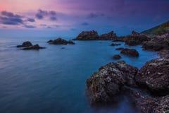 Seascape, σύννεφα ουρανού, μπλε ουρανός, Sunrises Στοκ φωτογραφίες με δικαίωμα ελεύθερης χρήσης