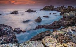 Seascape, σύννεφα ουρανού, μπλε ουρανός, Sunrises Στοκ φωτογραφία με δικαίωμα ελεύθερης χρήσης
