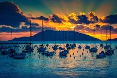 seascape σύννεφων σκοτεινό ηλιοβασίλεμα ουρανού Στοκ φωτογραφίες με δικαίωμα ελεύθερης χρήσης