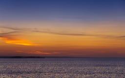 seascape σύννεφων σκοτεινό ηλιοβασίλεμα ουρανού στοκ εικόνα με δικαίωμα ελεύθερης χρήσης