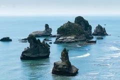 Seascape της Νέας Ζηλανδίας προοπτική κόλπων Motukiekie Στοκ φωτογραφία με δικαίωμα ελεύθερης χρήσης