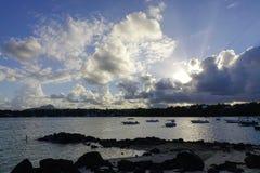 Seascape του νησιού του Μαυρίκιου Στοκ φωτογραφίες με δικαίωμα ελεύθερης χρήσης