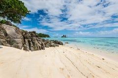 Seascape των Σεϋχελλών - παραλία Anse Royale, νησί Mahe, Σεϋχέλλες Στοκ εικόνες με δικαίωμα ελεύθερης χρήσης