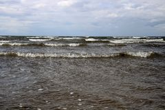 Seascape χειμώνα και άποψη ουρανού Στοκ εικόνες με δικαίωμα ελεύθερης χρήσης