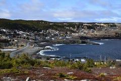 Seascape весны по побережью Ньюфаундленд Канада, около Flatrock Стоковая Фотография