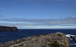 Seascape весны по побережью Ньюфаундленд Канада, около Flatrock Стоковые Фотографии RF