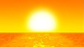 Seascape восхода солнца/захода солнца сток-видео