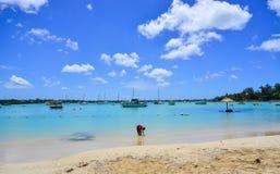 Seascape в грандиозном Baie, Маврикии Стоковые Фото