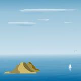 Seascape в сини Стоковое Изображение