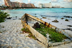 Seascape в Cancun, Мексике стоковые изображения