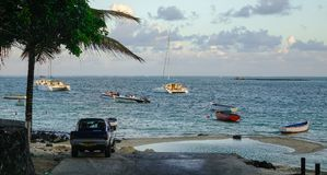 Seascape грандиозного Baie, Маврикия Стоковое Изображение RF