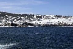 Seascape зимы по побережью Ньюфаундленд Канада, около Flatrock Стоковая Фотография
