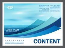 Seascape и предпосылка шаблона дизайна плана представления голубого неба для туризма путешествуют дело иллюстрация Стоковые Фото