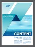 Seascape и предпосылка шаблона дизайна плана представления голубого неба для туризма путешествуют дело иллюстрация иллюстрация штока