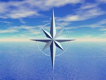 seascape компаса бесплатная иллюстрация