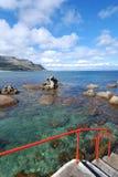 seascape красного цвета рельса Стоковое Фото