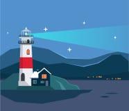 Seascape маяка бесплатная иллюстрация