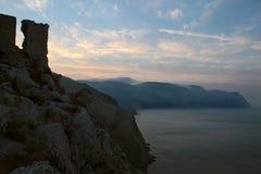 Seascape на заходе солнца Стоковое Изображение RF