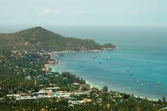 Seascape на пиковом взгляде на Koh Дао стоковое изображение rf