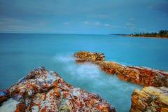Seascape на Nightcliff, северных территориях, Австралии Стоковые Изображения