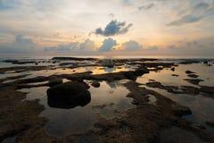 Seascape острова Нейл отражения бассеина прилива захода солнца Стоковое фото RF