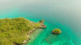 Seascape: остров в лагуне Boracay, Филиппинах видеоматериал