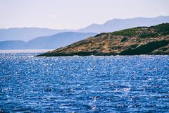 Seascape Отключение моря к Криту стоковые изображения