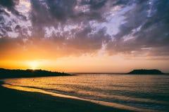 Seascape Отключение моря к Криту стоковая фотография