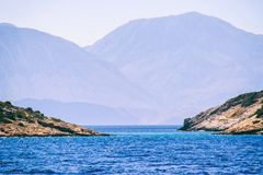 Seascape Отключение моря к Криту стоковые фото