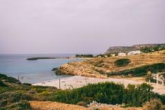 Seascape Отключение моря к Криту стоковые фотографии rf