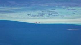 Seascape отмели Kaneohe Стоковые Фотографии RF