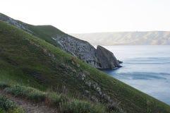 Seascape от скалы Взгляд на океане Стоковые Изображения RF