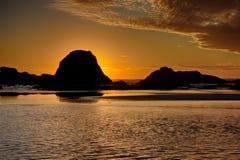 Seascape перед заходящим солнцем Стоковое Изображение